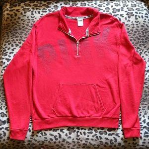 VS PINK quarter zip pull-over sweatshirt